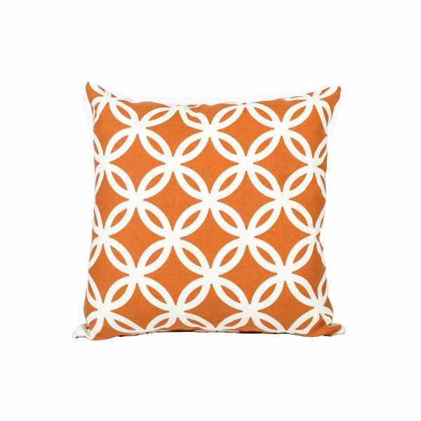 Amber White Patterned Pillow