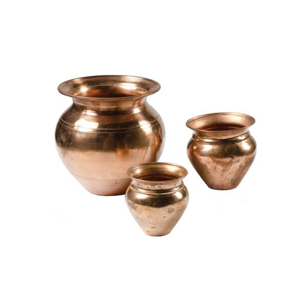 Copper Pot Trio Set