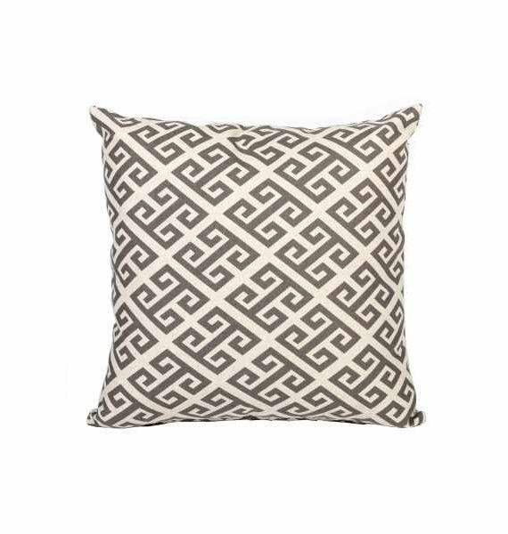 Grey Aztec Pillow