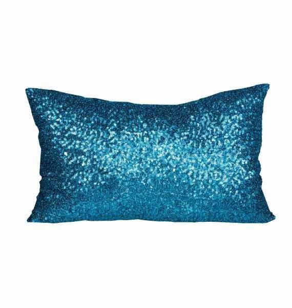 Mermaid Blue Sequnce Pillow