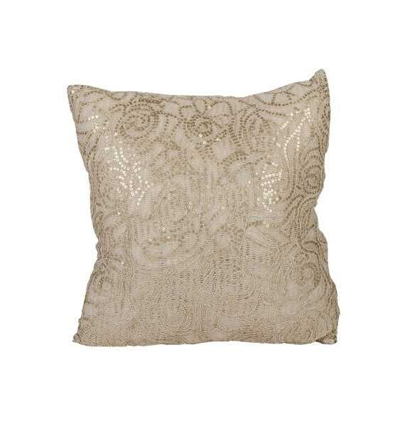 Gold Sequence Patterend Pillow