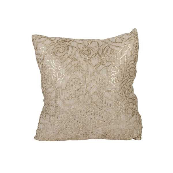 Gold Sequence Patterned Pillow