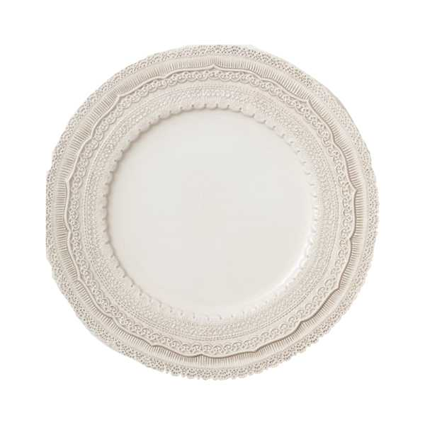 Quebec Charger Plate - Pearl