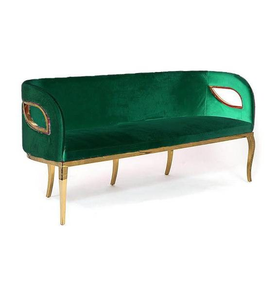 3 seater green