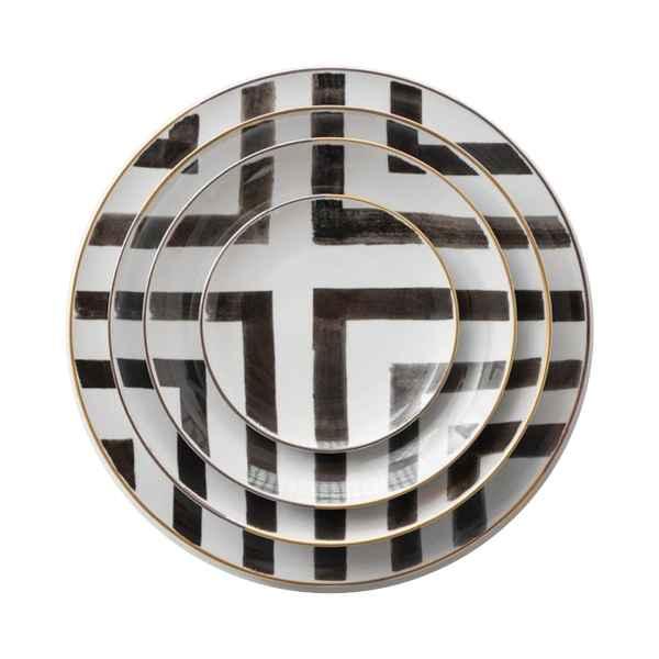 Venice Plate Set - Stripes Pattern