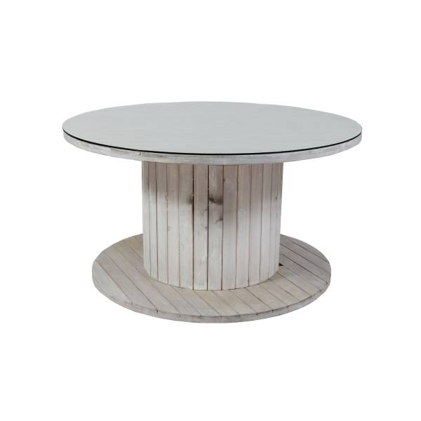 Texas Round Dining Table - with glass top