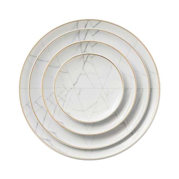 Venice  Plate Set -Marble Pattern